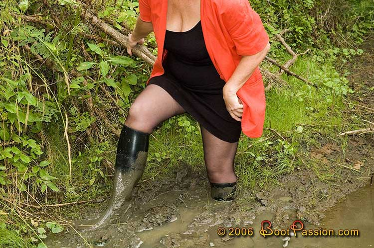 Mud slave boot worship